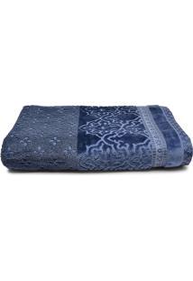 Toalha De Banho Gigante Artex Le Bain Madras 90X150Cm Azul