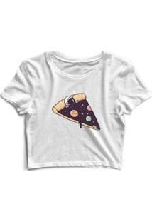 Camiseta Pizza Galáxia Astronauta Feminina - Feminino