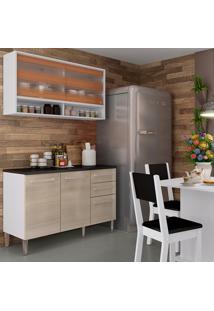 Cozinha Compacta Com Tampo 2 Peças Elis Fresia - Madesa - Branco / Tirol