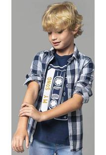 Camisa Xadrez Infantil Menino Manga Longa Hering Kids