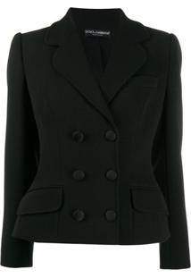Dolce & Gabbana Jaqueta Estruturada Com Abotoamento Duplo - Preto