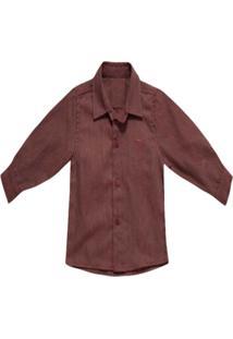 Camisa Barbara Colorê Casual Bordô