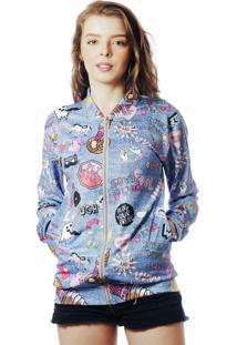 Jaqueta Bomber Estampada Tumblr Elephunk Full Print Lol Jeans - Kanui