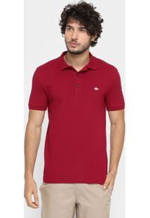 38e448c60bfa7 Camisa Polo Lacoste Piquet Slim Masculina - Masculino-Vermelho Escuro