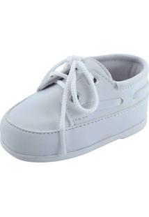 Sapato Social Infantil Pekenos Mimos 601 - Masculino-Branco