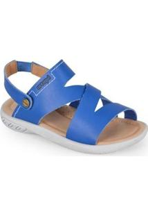 Sandália Infantil Ortopé Energy Masculina - Masculino-Azul