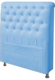 Cabeceira Para Cama Box Casal 140 Cm Livia Corino Azul