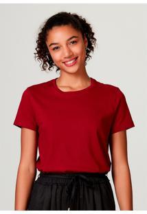 Camiseta Hering Bã¡Sica Manga Curta Em Algodã£O Pima Vermelho - Vermelho - Feminino - Dafiti