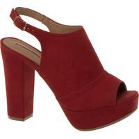 7fb381ac55 Constance. Sandal Boot Vermelha Salto Alto