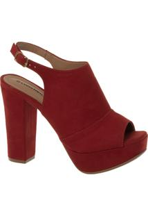 Sandal Boot Vermelha Salto Alto