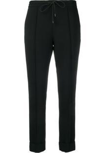 Kenzo Slim Fit Drawstring Trousers - Preto