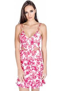 Vestido Neoprene Floral Colcci - Feminino