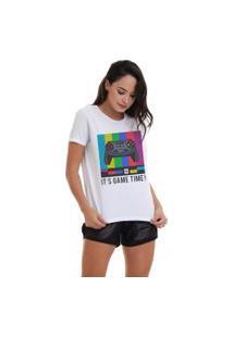 Camiseta Basica Joss Game Time Branca
