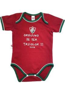 """Body Reve D'Or Sport """"""""Orgulho De Ser"""""""" Fluminense Grená, Verde E Branca"""