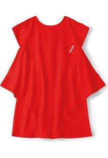 Vestido Lilica Ripilica Vermelho Bebê Menina