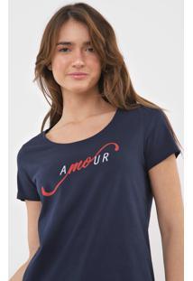 Camiseta Malwee Amour Azul-Marinho