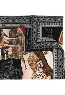 Ralph Lauren Collection Cachecol De Cashmere Com Bordado - Preto