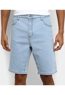 Bermuda Jeans Lacoste Live Masculina - Masculino-Azul