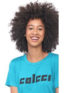 Camiseta Colcci Logo Azul