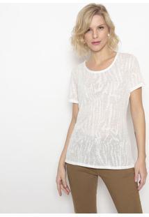 Camiseta Em Devorãª- Branca- Canalcanal