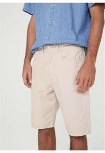 Bermuda Masculina Em Sarja Texturizada Cinza