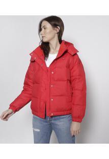 Jaqueta Em Matelass㪠Com Tag - Vermelhalevis