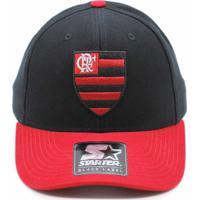 ccb2372f24748 Boné Starter X Flamengo Preto Aba Curva Vermelha Esc..