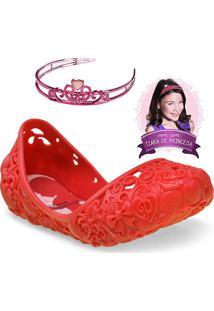 55824dc671 Sapatilha Fem Infantil Grendene 21514 Disney Princes Vermelho