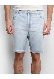 Bermuda Jeans Ellus Puídos Masculina - Masculino-Azul Escuro