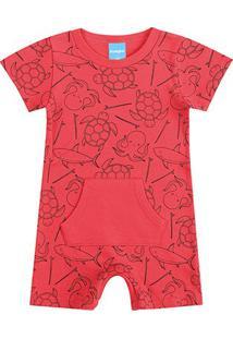 Body Banho De Sol Bebê Kamylus Animais Marinhos - Masculino