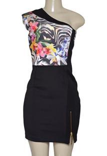 Vestido Fem Moikana 11035 Zebra/Floral