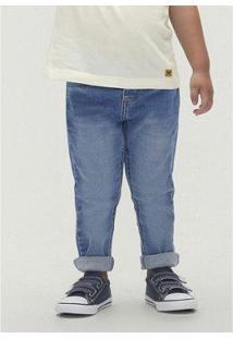 Calça Masculina Em Jeans Skinny Cós Regular Toddler Infantil - Masculino-Azul