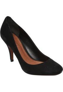 Schutz Sapato Tradicional Em Nobuck Preto Salto: 8,5Cm