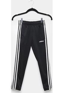 Calça Infantil Adidas Yg C Feminina - Feminino-Preto+Branco