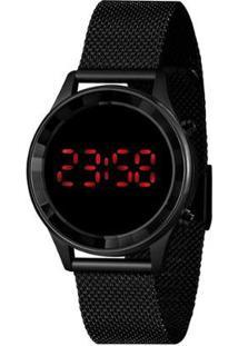 Relógio Lince Feminino Fashion Digital - Feminino-Preto