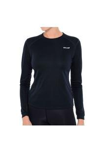 Camiseta Segunda Pele X-Sensor Feminina Solo Azul Marinho
