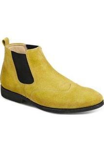 Bota Masculina Sandro Moscoloni Classic Chelsea Amarela Yellow