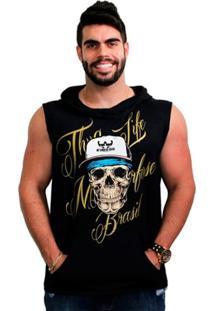 Colete Metamorfose Brasil Thug Life Moletom Fit