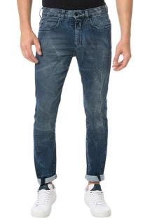 Calça Calvin Klein Jeans Five Pockets Slouchy Skinny Marinho - 36