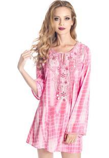 Bata Bordada Tie Dye Pink Sahaari P