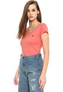 Camiseta Ellus 2Nd Floor Basic Coral