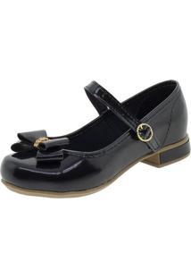 Sapato Infantil Feminino Bonekinha - 330002 Verniz/Preto 31