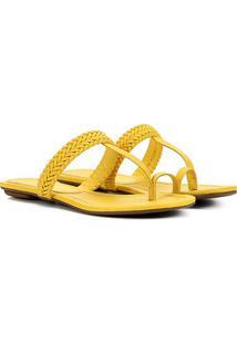 Rasteira Santa Lolla Tresse Feminina - Feminino-Amarelo