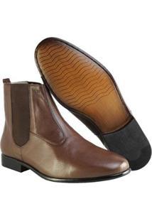 Bota Social Hb Agabe Boots Masculina - Masculino-Café