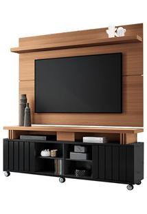 Rack Bancada Com Painel Para Tv Até 70 Pol. Briz H01 Preto/Nature - Mp