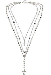 Colar Fiveblu Crucifixo Prata