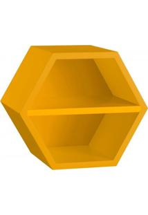 Nicho Hexagonal 1 Prateleira Favo Maxima Amarelo