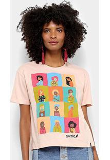 Camiseta Cantão Mulheres Feminina - Feminino-Rosa