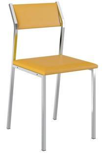 Cadeira Carraro 1709 Aço Cromada (2 Unidades) Cr/Amarelo