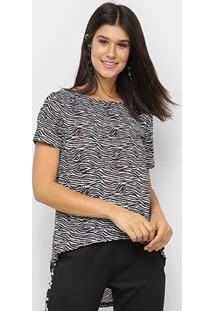 Camiseta My Favorite Thing Mullet Tigre Feminina - Feminino-Preto+Branco